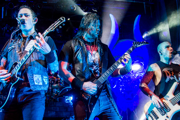 13.08.2015 / Trivium live @ ((szene)) Wien, AUT / Matthew Heafy, Corey Beaulieu & Paolo Gregoletto  / © X-ACT Music Magazine 2015 (Photo: Stefan Tschapeller)