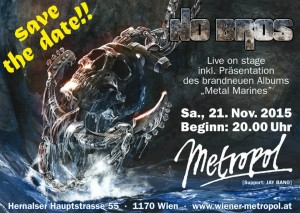 Metropolflyer cd präs konzert metal marines Nov 2015