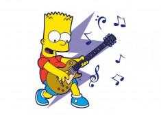 20_Wandtattoo_Bart_Simpson_mit_Gitarre_einzel